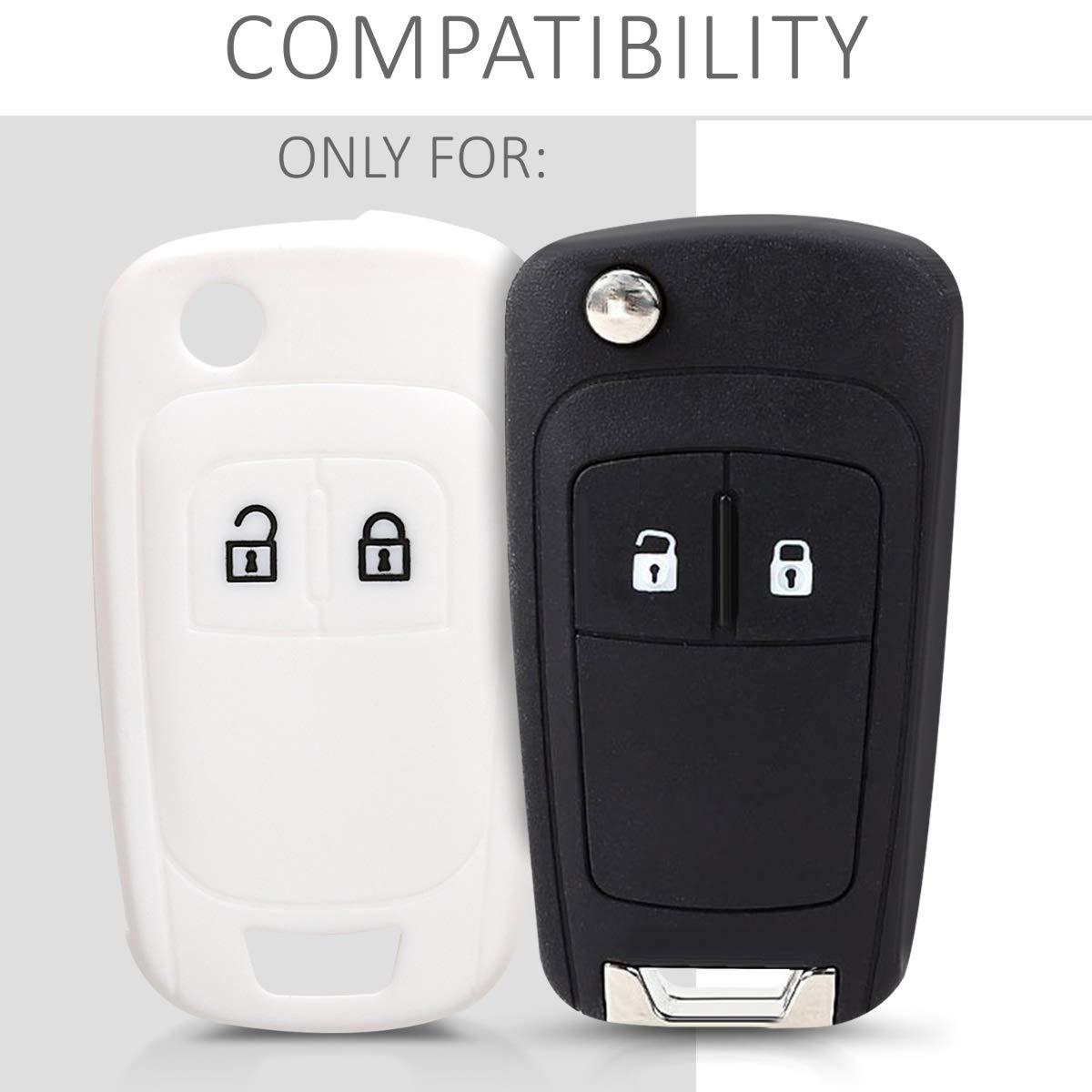 kwmobile Accessoire cl/é de Voiture pour Opel /Étui de Protection Souple Coque pour cl/é Pliable de Voiture Opel 2-Bouton en Silicone Fuchsia