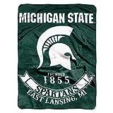 Northwest NOR-1COL080200031RET 60 x 80 in. Michigan State Spartans NCAA Rebel Series Royal Plush Raschel Blanket