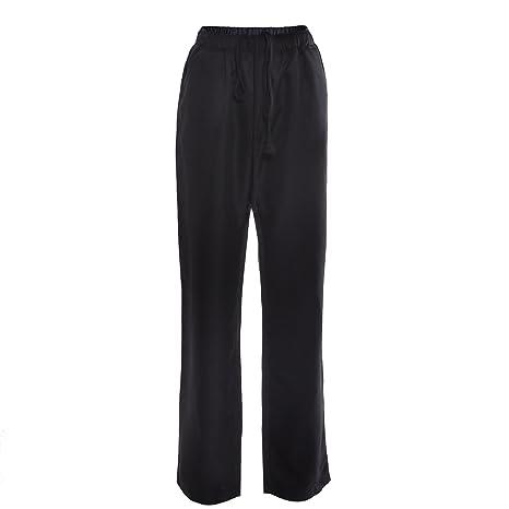 Pantaloni da chef   catering con elastico in vita  colore nero  Amazon.it   Casa e cucina 8fc96766072e