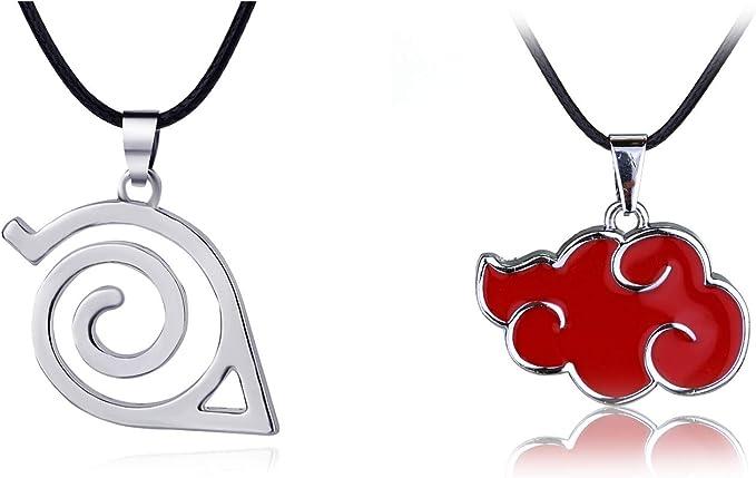 Amazon.com: Naruto Collar con colgante de nubes rojas y ...