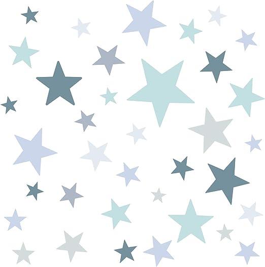 Little Deco Wandaufkleber 60 Sterne Kinderzimmer Junge Stars Wandtattoo DL395