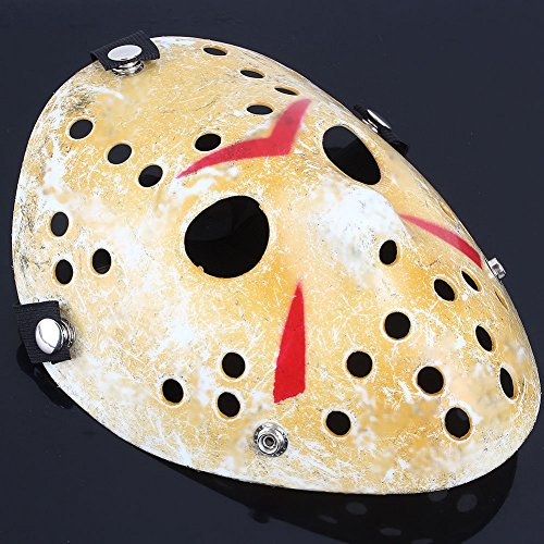 Mimgo Store Friday The 13th Horror Hockey Jason Vs. Freddy Mask Halloween Costume Prop]()
