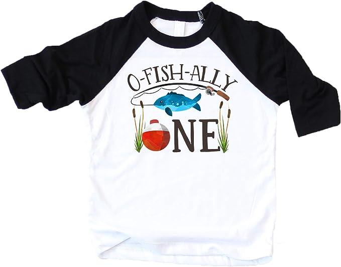 Amazon.com: O-Fish-Ally-One - Camisa de cumpleaños para niño ...