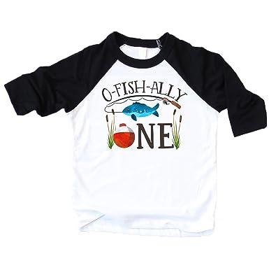524186caf O-Fish-Ally- ONE Boys 1st Birthday Shirt Fishing First Birthday Boy Outfit