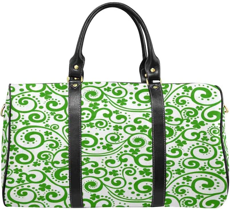 InterestPrint Carry-on Garment Bag Travel Bag Duffel Bag Weekend Bag St PatrickS Day Background in Green Colors