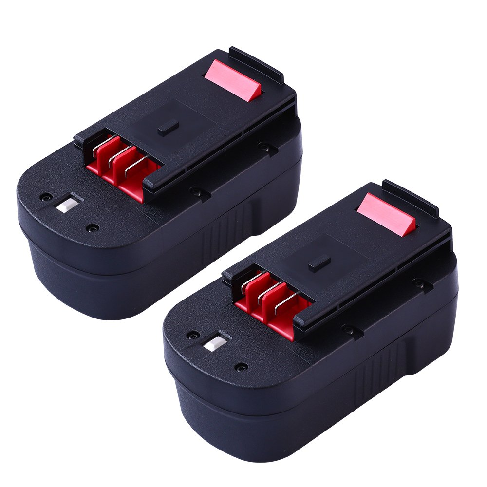 Upgraded 3600mAh for Black and Decker 18v Replacement Battery HPB18 HPB18-OPE 244760-00 A1718 FS18FL FSB18 Firestorm 18 Volt Batteries(2 Packs)