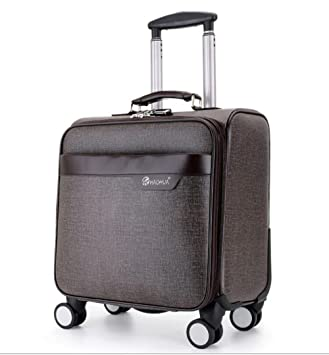 Maletas para Cabina Piloto Laptop con Ruedas Business Trolley Maletin Informático Carry On Roller Cases,Brown: Amazon.es: Deportes y aire libre