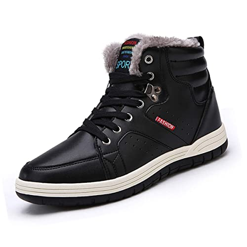 Sneakers Fur Boots For … Top Men's Shoes Snow Winter Lauwodun Outdoorsportscasualdaily High Fully F3uJT1lKc