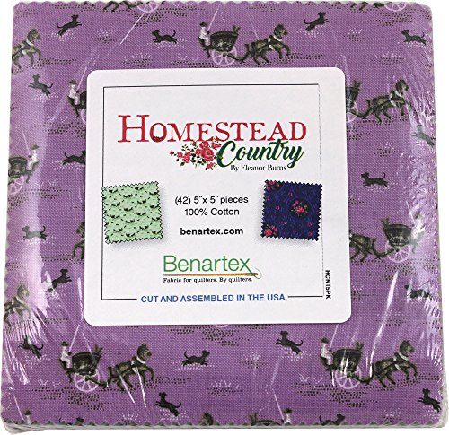 Eleanor Burns Homestead Country 5X5 Pack 42 5-inch Squares Charm Pack Benartex