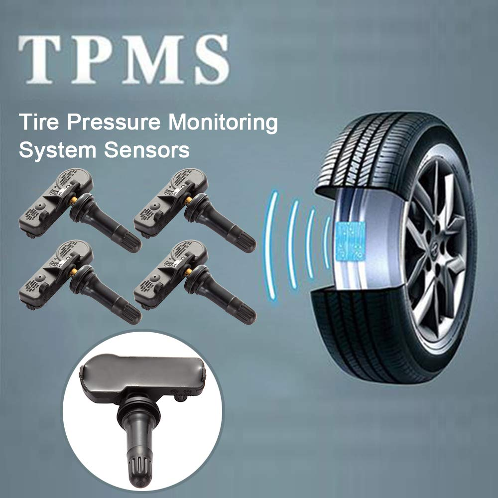 12 MONTHS WARRANTY TeileHaus 4PCS GM 315MHZ TPMS Tire Pressure Monitoring System Sensor 13598771 13598772 13581558 13586335 Fits for Buick GMC Chevrolet Chevy Cadillac Pontiac Saturn Hummer