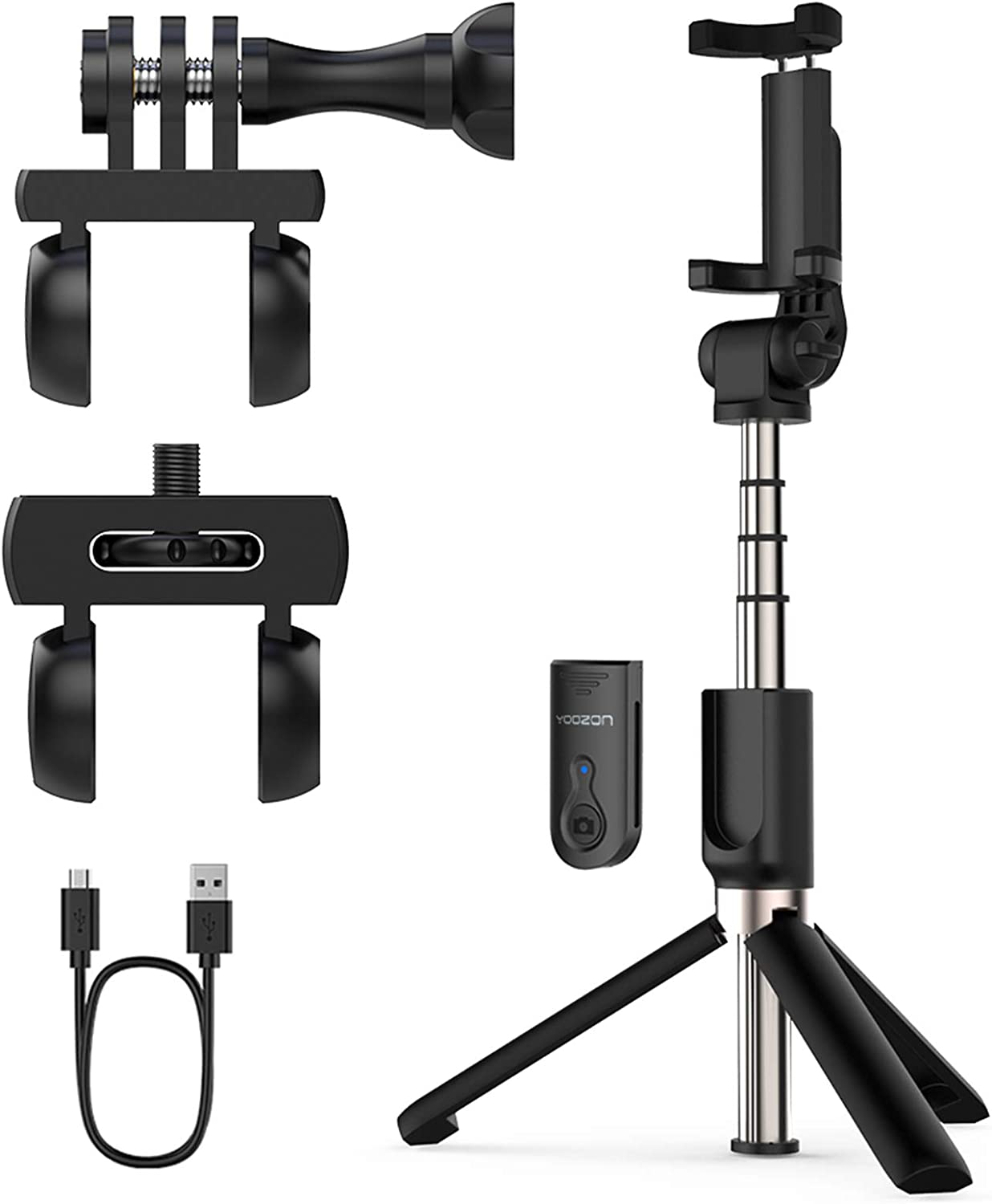 Yoozon Upgraded Selfie Stick Tripod Bluetooth, Phone & Camera Tripod Selfie Stick with Wireless Remote Shutter for Gopro,Action Cameras, iPhone 11/11 Pro/11 Pro Max/Xs MAX/Galaxy Note 10/Note 10 Plus