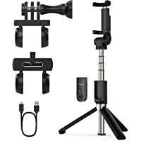 Yoozon Upgraded Selfie Stick Tripod Bluetooth, Phone & Camera Tripod Selfie Stick with Wireless Remote Shutter for Gopro…
