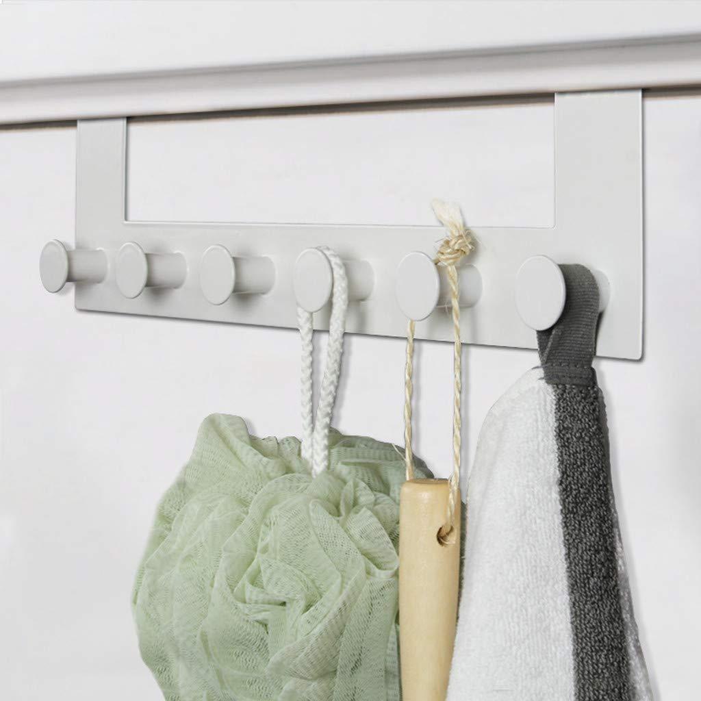 ViShow Iron Art Back Door Hanger Hook for Bathroom Kitchen Hanger Towel Clothes Door Rack,Easy Install Space Saving Bathroom Hooks by ViShow (Image #7)