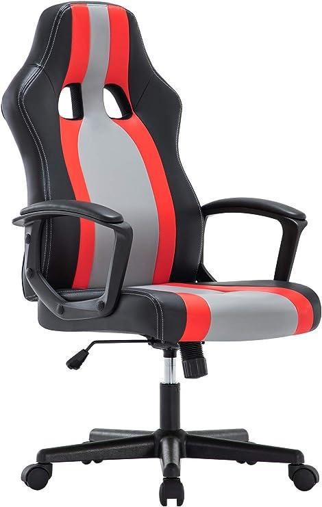 IntimaTe WM Heart Chaise Gaming Ergonomique, Fauteuil de Bureau Pivotant, Dossier Haut, Chaise pour Ordinateur, Assis Rembourré (Rouge)
