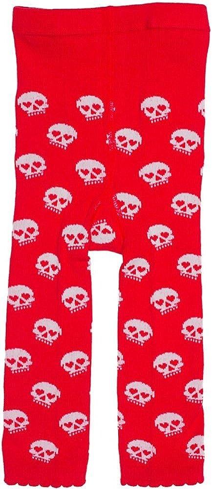 Sourpuss Red /& White Skull Baby Leggings from Clothing,18-24M,Red White