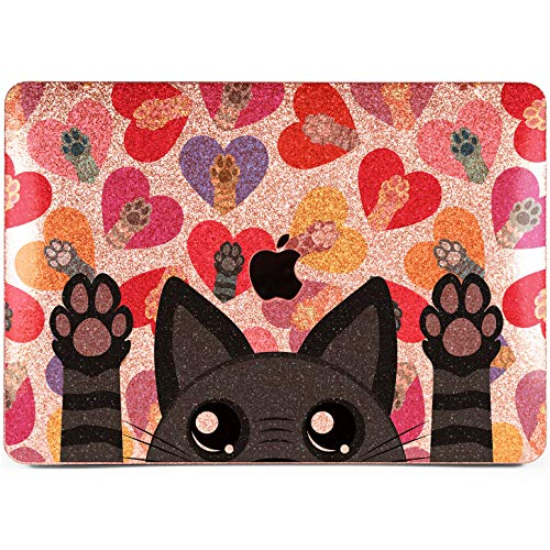 Lex Altern Glitter MacBook Air Case 13 inch Pro 15 2018 2017 Rose Gold Crystal Cute Black Cat Watercolor Mac Animal Hard Rhinestone 11 Painted Retina 12 Sparkly Cover Paws Soft 2016 Laptop Protective