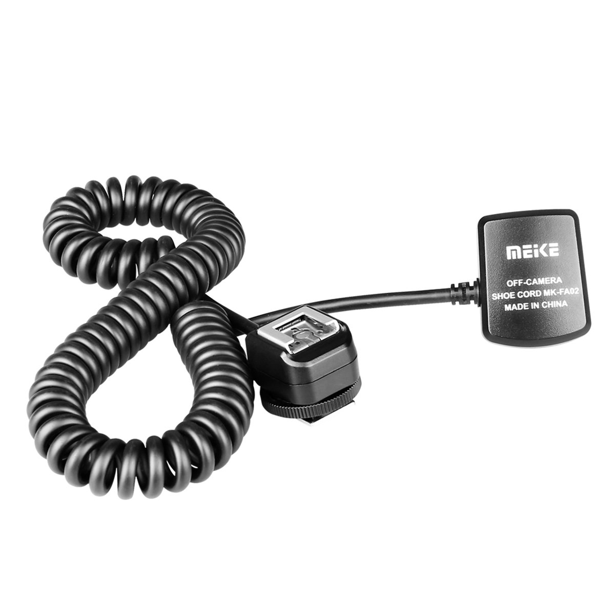 Meike MK-FA02 TTL Off-Camera Flash Shoe Cord Extended 3Ms Work for Sony Camera and Flash with Mi Port by Meike