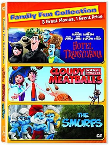 Amazon Com Sony Pictures Home Entertainment Col D46629d Cloudy With A Chance Of Meatballs Hotel Transylvania Smurfs Dvd 2 Disc Tf Home Kitchen