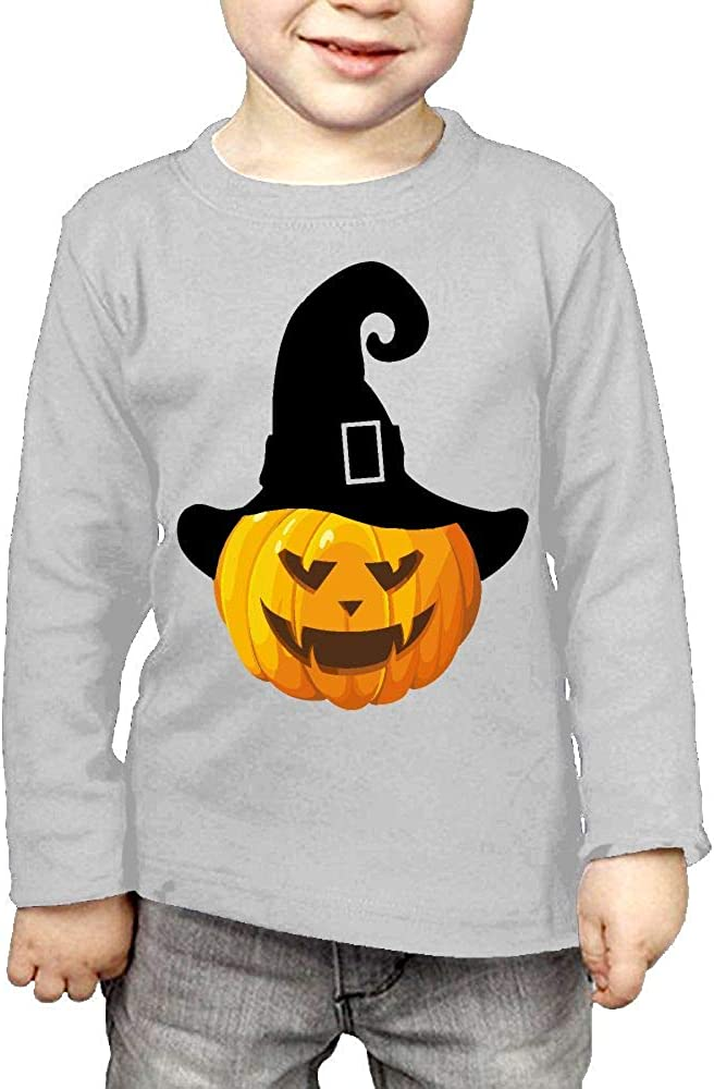 Baby Boys Kids Pumpkin with Witch Hat1 ComfortSoft Long Sleeve Shirt