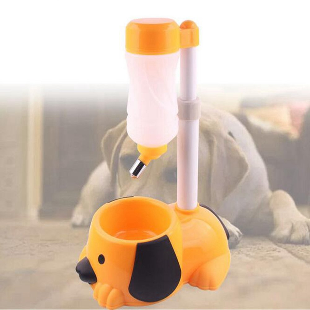 WW Pet Automatic Waterer Hanging Water Bottle Liftable Cat Dog Standing Water Dispenser Automatically Feeding Water Height Adjustable,Orange by CW&T (Image #1)
