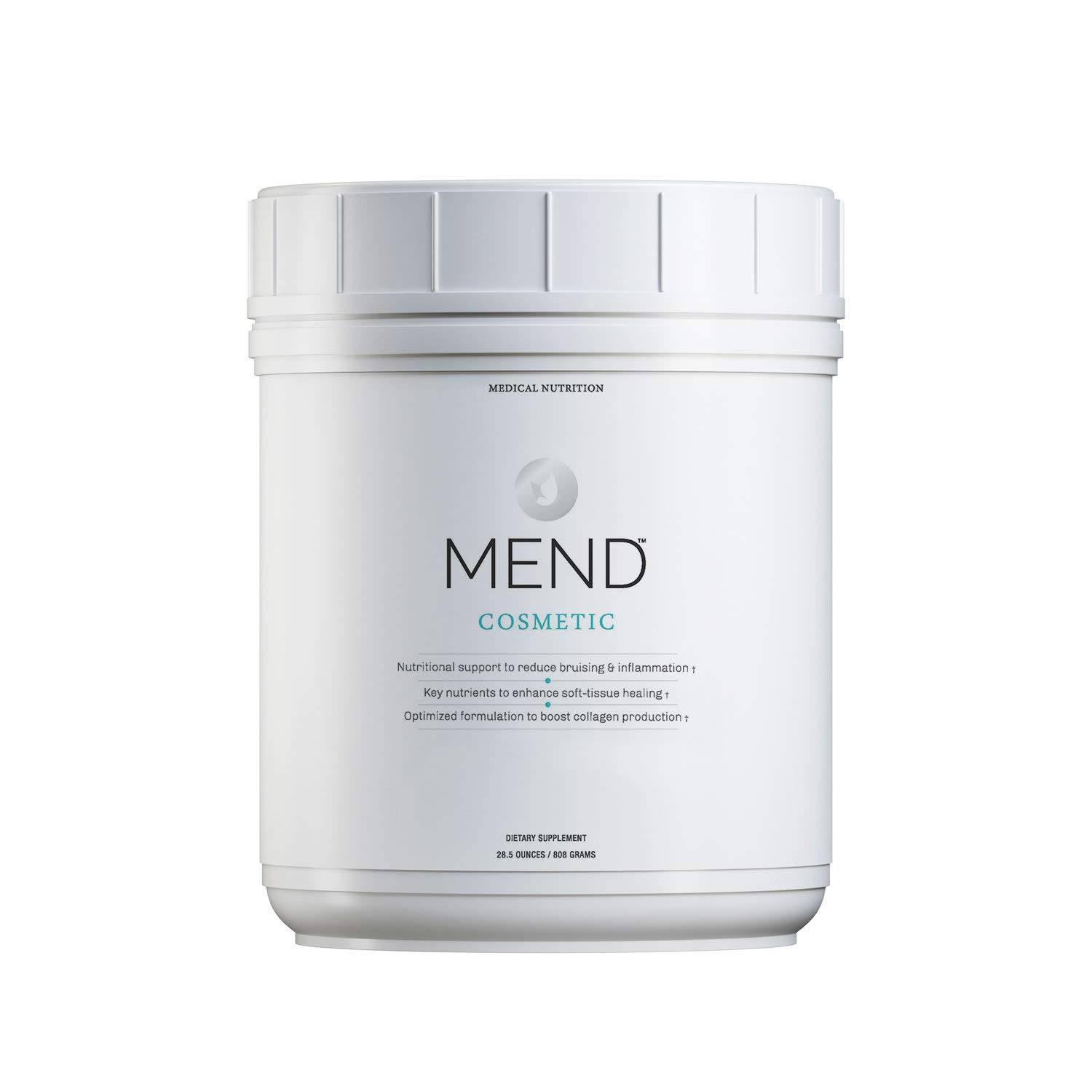 New MEND Cosmetic Nutrition for Skin Health, Bruising, and Collagen, Vanilla, 20 Servings