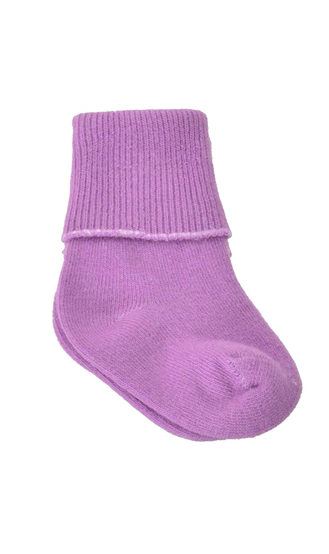 Sierra Socks Unisex-Baby Newborn Girl Cotton Turn Cuff Bootie 9 Pair Pack