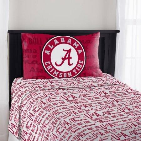 The Northwest Company Alabama Crimson Tide Twin Sheet Set
