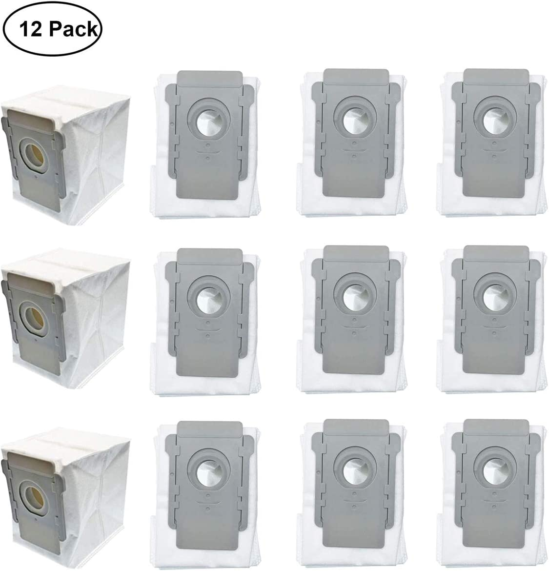 Garbage fighter Dust Bags Replacement for iRobot Roomba i7 i7+ i7 Plus s9 s9+ E5 E6 E7 Series Parts - 12 Pack Automatic Dirt Disposal Bags Replenishement for iRobot Vacuum Cleaner Accessories