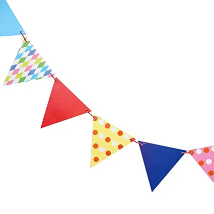 grandshop 50593 party bunting flags banner for party decoration