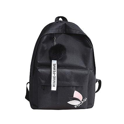 Amazon Com Women S Canvas Backpack School Bag For Girls Rucksack