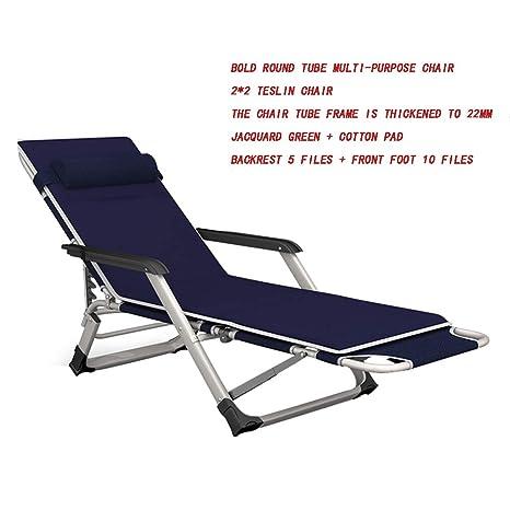 HTOLLA Silla reclinable Plegable Sillas de Playa para ...