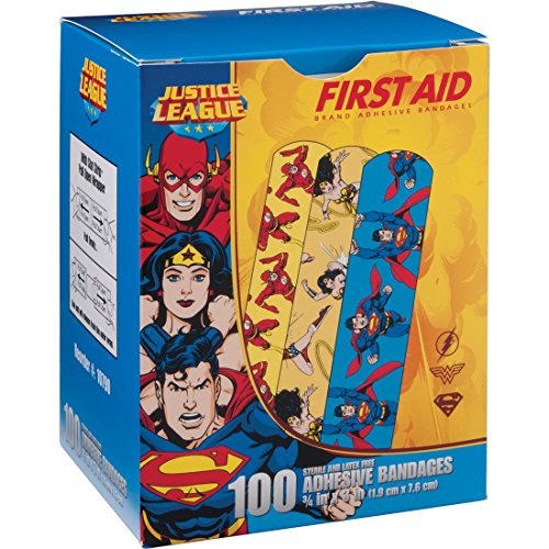 Justice League 100CT Bandages 3/4x3