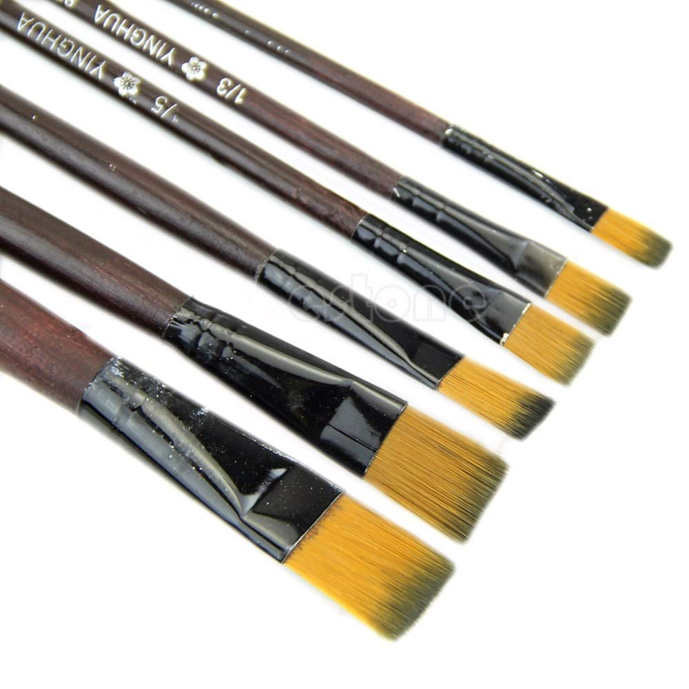 Brush For - Selling Est 1set 6pcs Nylon Paint Brushes Ist Useful - Frizzy Food Bathroom Round Skillet Drill Nails Self-cleaning Iron Upholstery Cellulite Neck Dyeing Rubber Between Snow Your