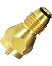 Propane Refill Adapter Universal Safety with 100% Solid Brass Regulator Valve Accessory for All 1 LB Tank Small Cylinders