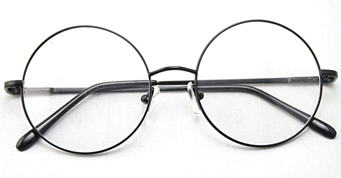Amazon.com: Agstum Retro Round Prescription ready Metal Eyeglass ...
