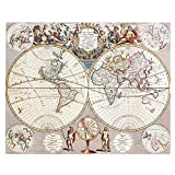 Retro Wall Map/Office Decoration Map/World Map/Mural-02