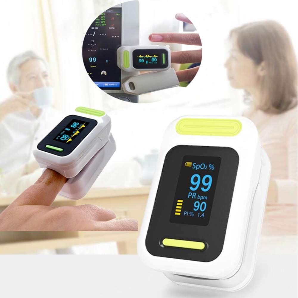 Oxímetro de Pulso Dactilar monitores de Ritmo cardíaco Hylogy la saturación de oxígeno de la Sangre con la Cuerda de Seguridad, Apagado automático, Ajustable OLED Display, por Family Health Care
