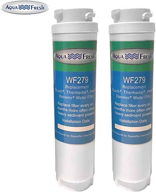 Aqua Fresh Water Filter Fits Bosch 9000077104 Refrigerators 2 Pack