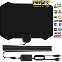 Antenna for Indoor, Amplified HD Digital TV Antenna with 120 Miles Long Range, Support 4K 1080p & All Older TV's for Indoor with Powerful HDTV
