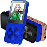 MP3 Player, Music Players - FecPecu Updated Version 8GB Hi-Fi Sound 35 Hours Playback, Portable Audio Player Build-in Speaker With FM Radio and Voice Recorder Expandable Up To 64GB (Blue)