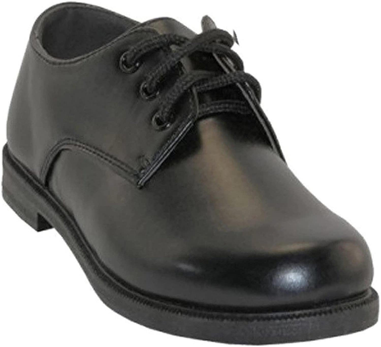 Plain Toe Blucher Oxford Easy USA Boys Lace Up Dress Shoes