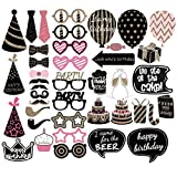 PBPBOX Birthday Photo Booth Props Party Favor Kit - 41 Count