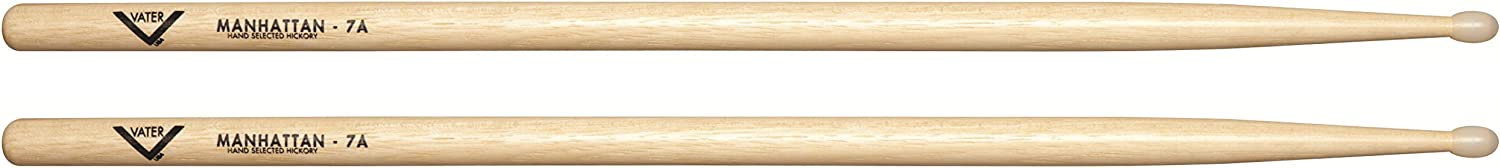 B0002D0D66 Vater 7A Nylon Tip Hickory Drum Sticks, Pair 61p4JBLsfKL