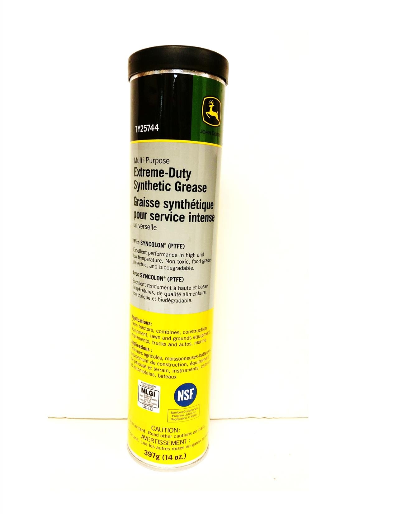 John Deere Multi-Purpose Extreme-Duty Synthetic Grease CASE of 10 TY25744 by John Deere