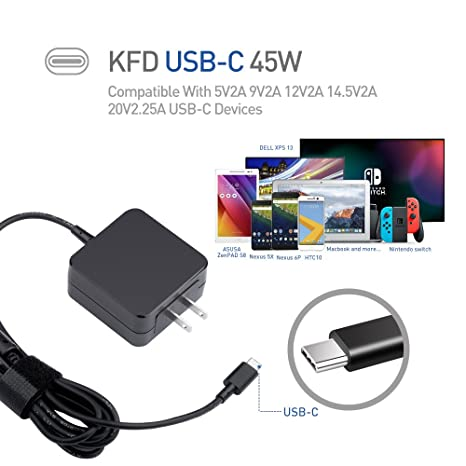 Amazon.com: [UL Listed] KFD 45W Type-C Adapter for Lenovo ...