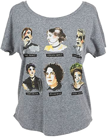 42abfc0c9 Out of Print Women s Literary Book-Themed Dolman Sleeve Tee T-Shirt