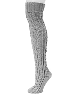 7ff035bc6 Womens Winter Warm Cable Knit Over Knee Long Boot Thigh-High Socks Leggings