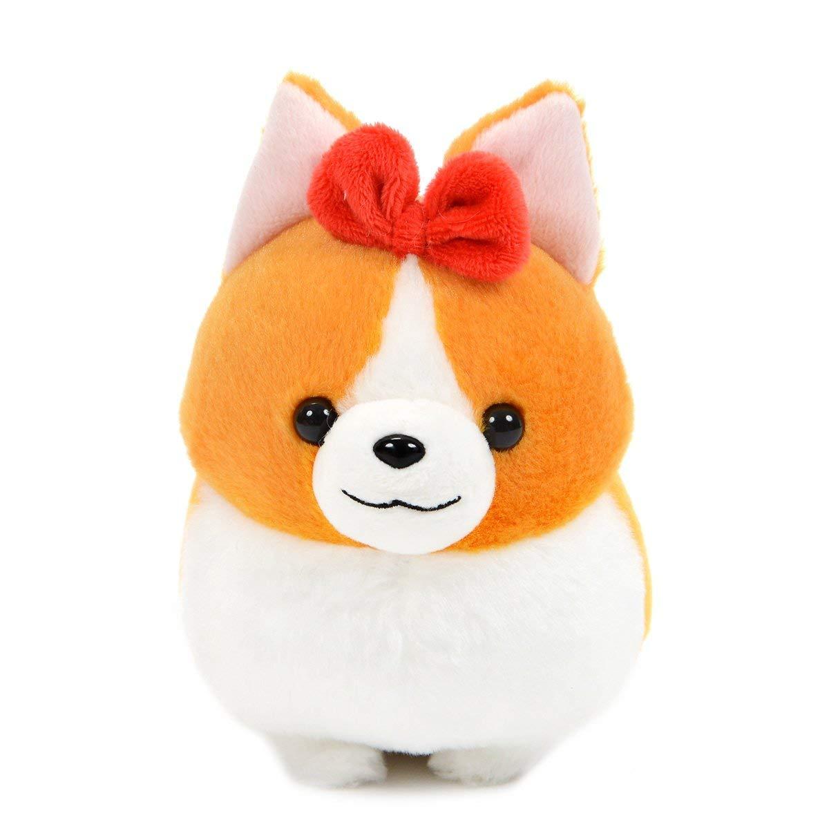 Amuse Corgi Plush Doll Ichi Ni no Dog Corgi Stuffed Animal Hana-chan White Standard Size Plushie 6 Inches