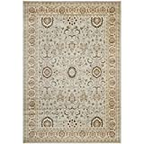Safavieh Florenteen Collection FLR127-8012 Traditional Oriental Grey and Ivory Area Rug (5'1″ x 7'7″)