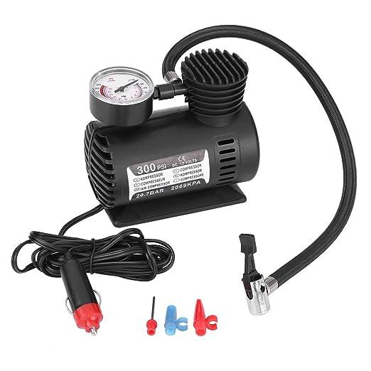 2 opinioni per Qiilu 12V Mini Compressore ad Aria Portatile, 300 Psi per Auto Elettrica/Moto